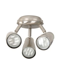 Halo 3 Light Low Energy Fan Light in Brushed Chrome