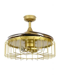 Fanaway Sheridan 48-inch Antique Gold AC Ceiling Fan with Light