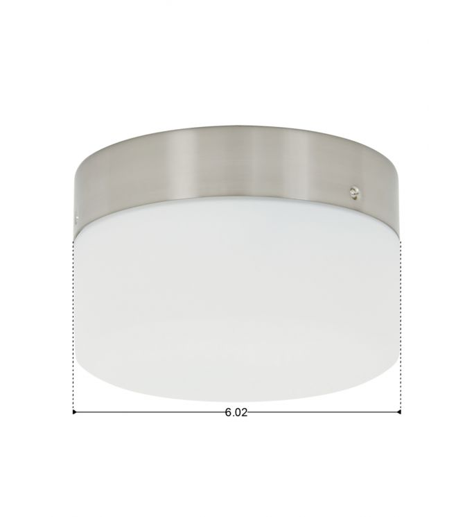 Lucci Air Climate Brushed Chrome Glass Ceiling Fan Light Kit