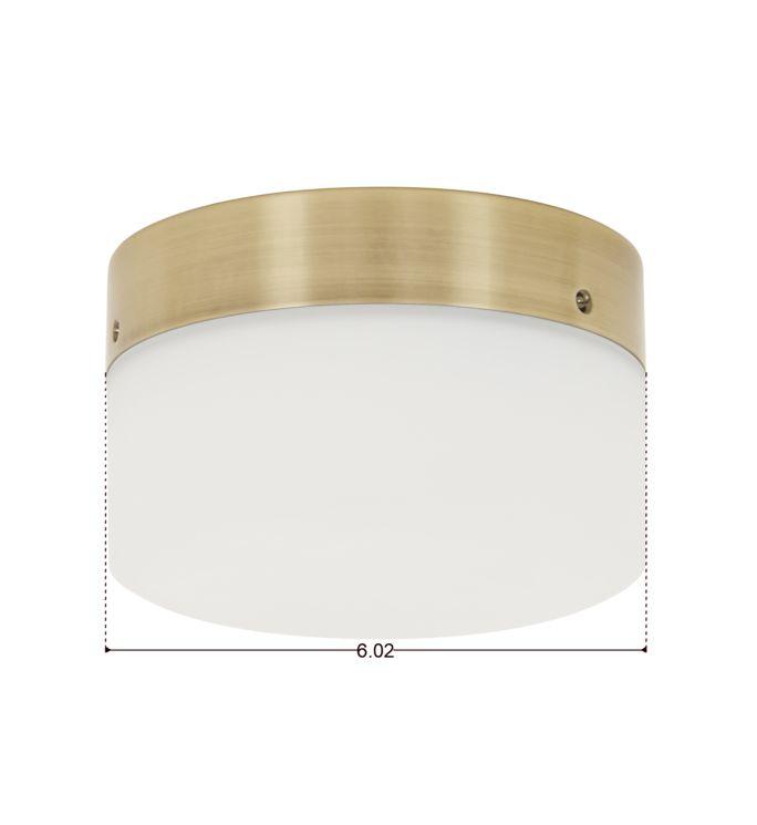 Lucci Air Climate Antique Brass Glass Ceiling Fan Light Kit