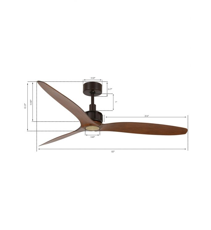 Lucci Air Viceroy Oil Rubbed Bronze and Dark Koa 52-inch Ceiling Fan