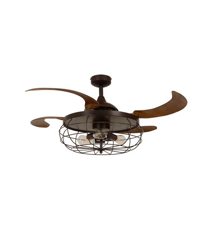 Fanaway Industri Oil Rubbed Bronze and Dark Koa 48-inch Ceiling Fan with Light