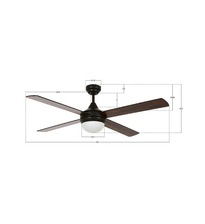 Lucci Air Airlie II Eco Oil Rubbed Bronze 52-inch Light with Remote Ceiling Fan