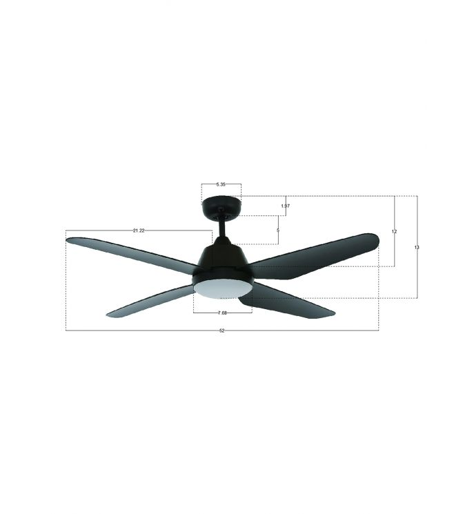 Lucci Air Aria 52-inch Black LED Light with Remote Ceiling Fan