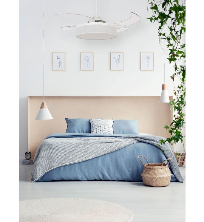 Fanaway Fraser 48-inch White and Transparent AC Ceiling Fan with Light