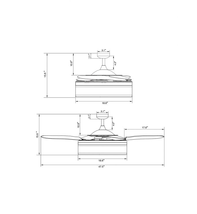 Fanaway Fraser 48-inch Oil Rubbed Bronze and Amber AC Ceiling Fan with Light