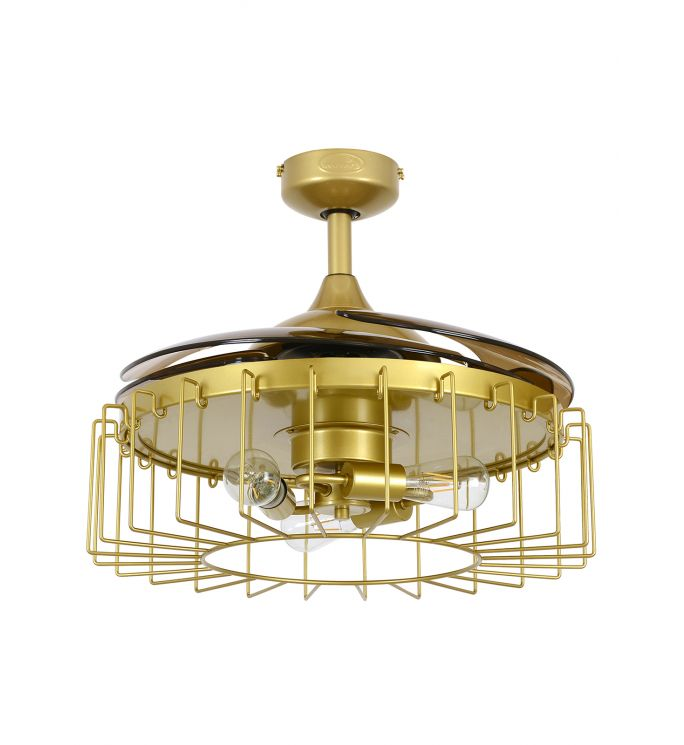 Fanaway Sheridan 48-inch Satin Brass AC Ceiling Fan with Light
