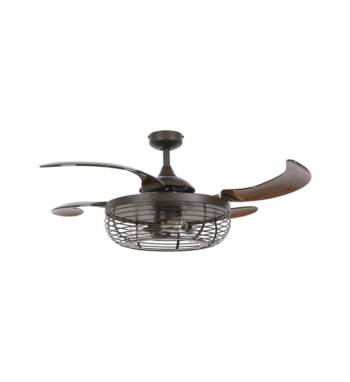 Fanaway Carbondale 48-inch Oil Rubbed Bronze and Amber Ceiling Fan with Light