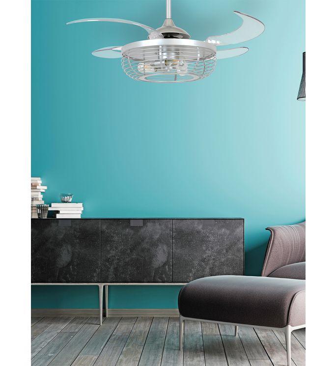 Fanaway Meridian 48-inch Black AC Ceiling Fan with Light