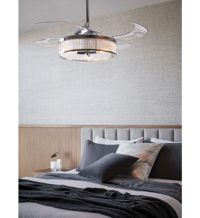 Fanaway Corbelle 48-inch Chrome With Clear Blades Ceiling Fan