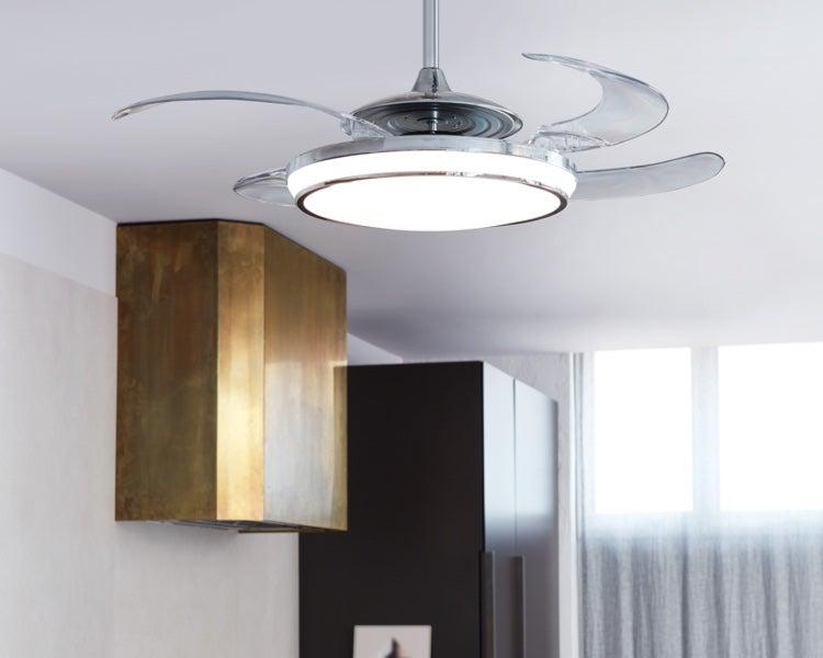 Fanaway - Fanaway is a revolutionary retractable blade ceiling fan-cum-pendant light